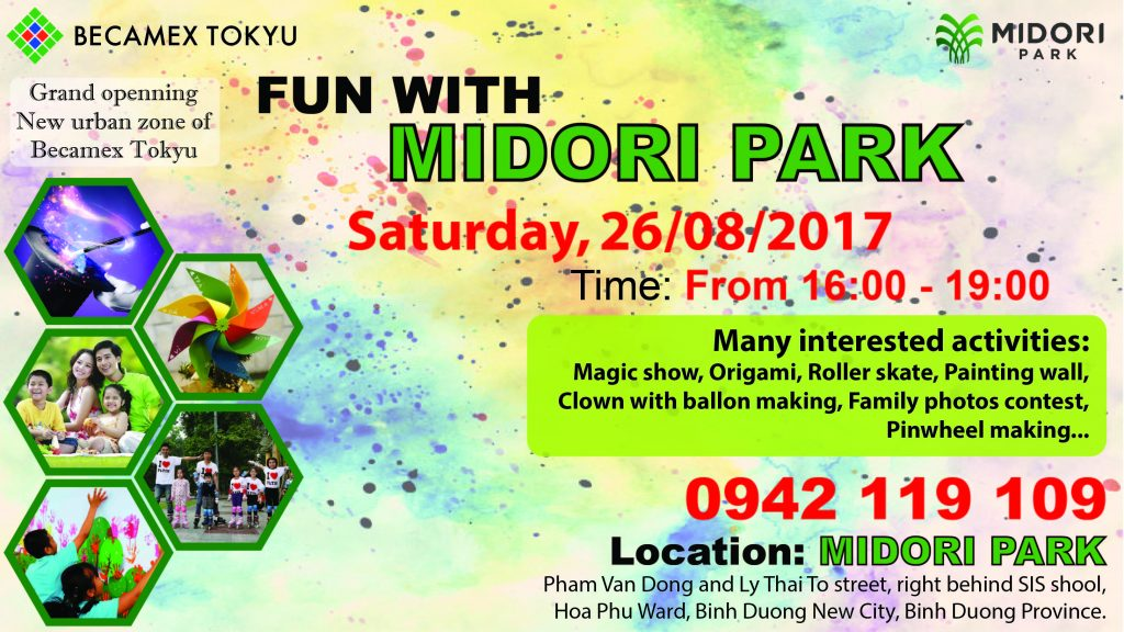 """FUN WITH MIDORI PARK"" – EVENT OF FINISHING PHASE 1st OF MIDORI PARK'S HARUKA RESIDENCE."